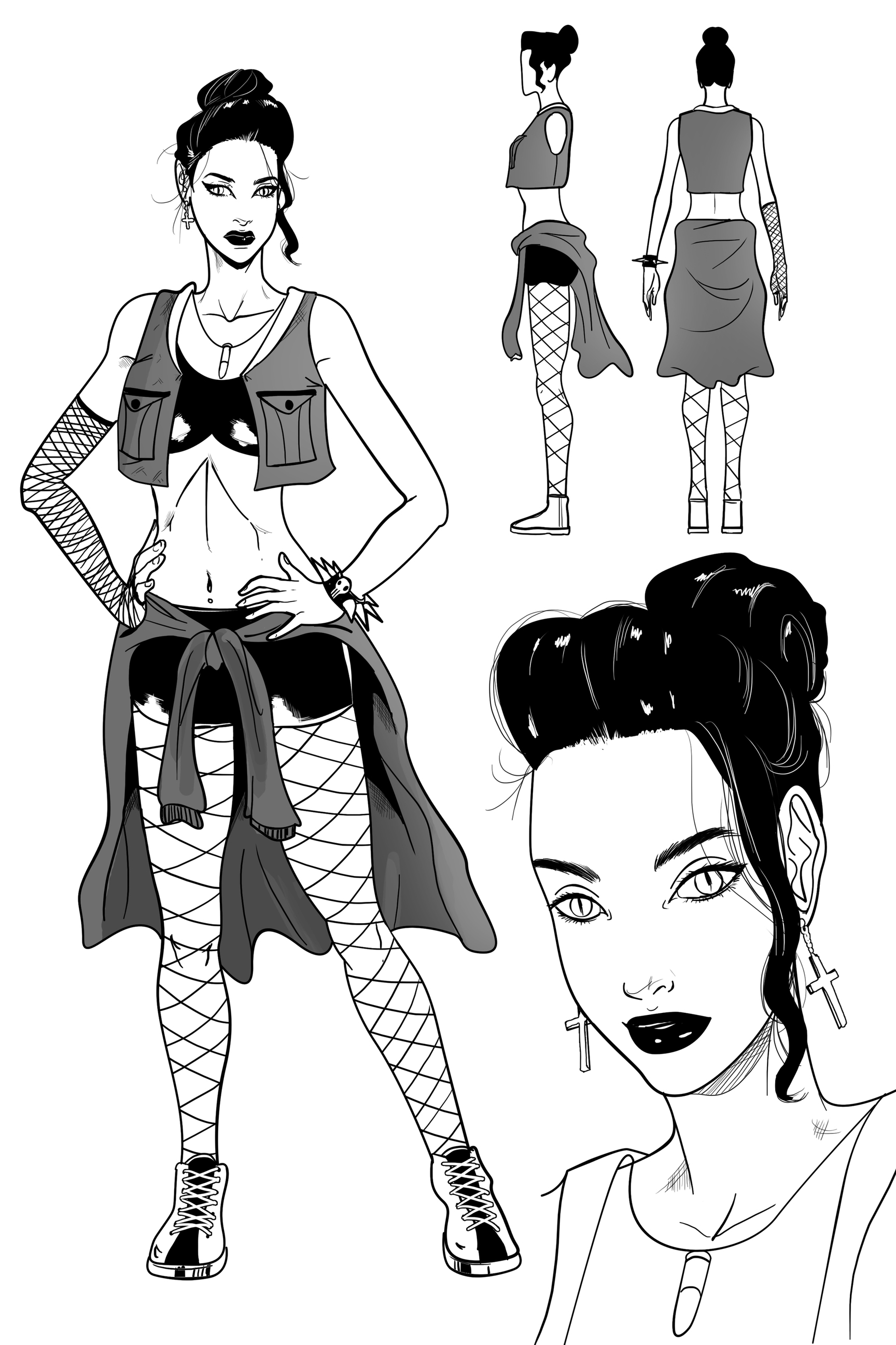 Character Design For Writers : Character designs for upcoming comic art writing